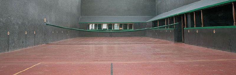 A real tennis court in Newcastle.