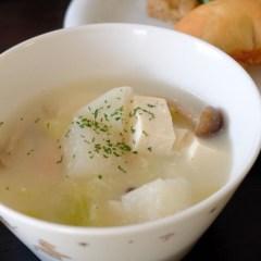 無限に飲みたくなる豆腐のポタージュスープ
