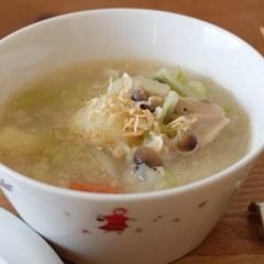 春キャベツとジャガイモたっぷりのクリーミー塩麹スープ