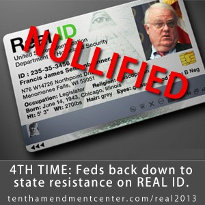 Fed back down off Real ID