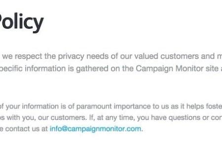 campaign monitor privacy policy screenshot