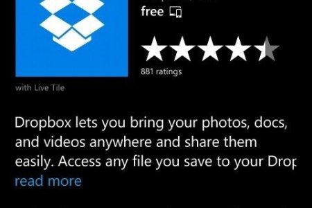 windows phone install dropbox app terms use