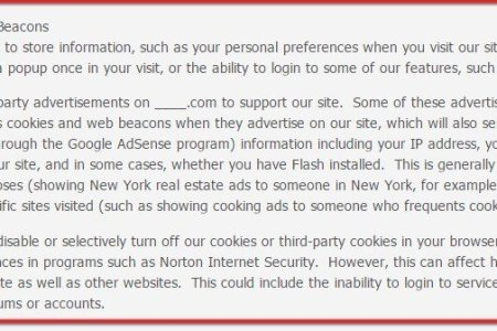 jensense privacy policy cookies web beacons