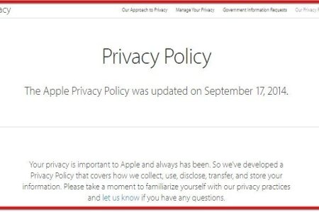 apple privacy policy website screenshot