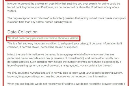 ixquick does not collect personal data