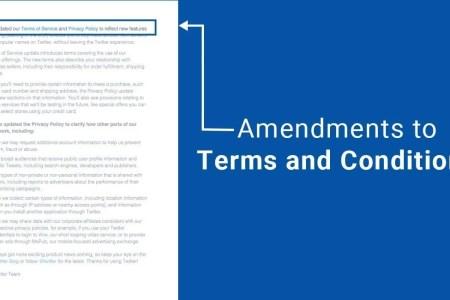 amendments terms conditions