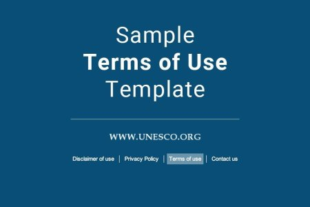 sample terms of use template