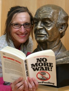 As a peace activist, Linda Richards has been inspired by Linus Pauling's legacy. (Contributed photo)
