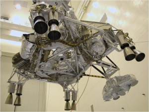 The descent stage of the Mars Science Laboratory (Photo: NASA)