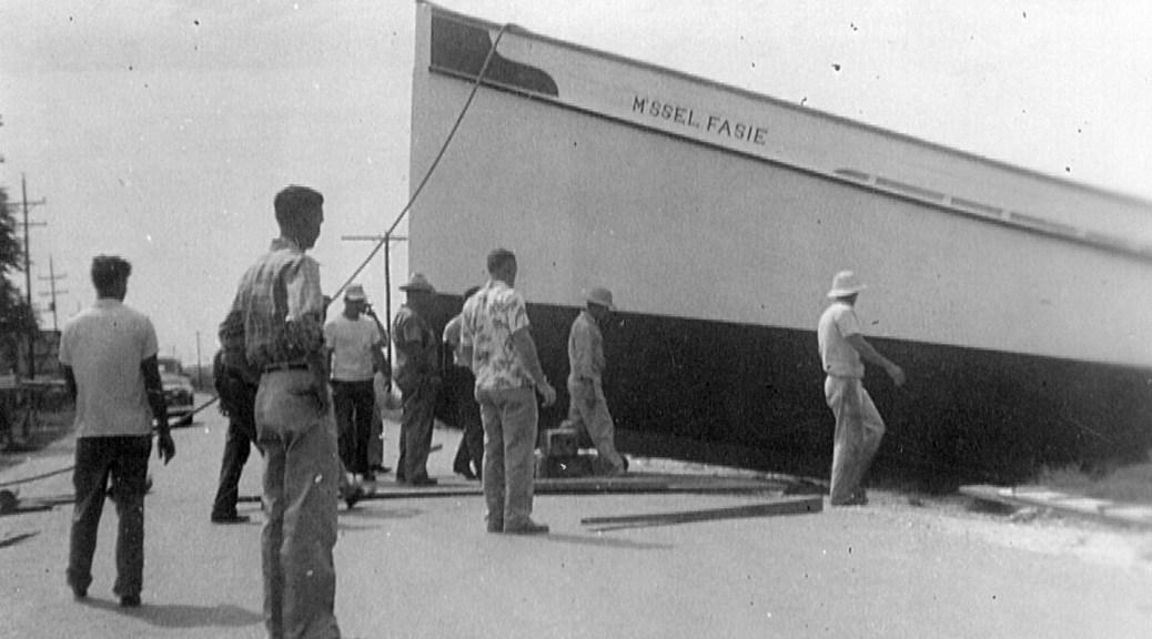Drydocking Mlle. Fasie Trawl Boat