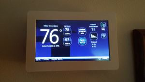 Not only like a tablet on the wall... its in Fahrenheit!!