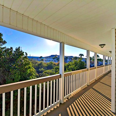 Crystal Beach Destin rental home top balcony