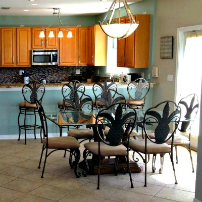 Crystal Beach Destin rental home dining room