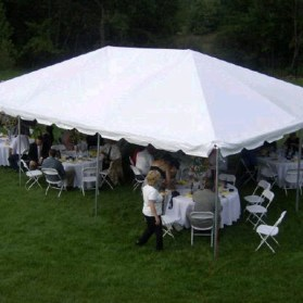20x30 Frame Tent at a Wedding Reception