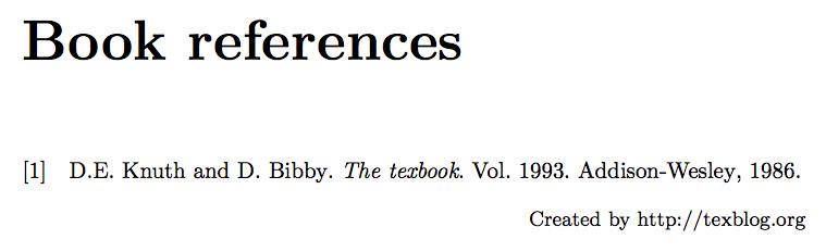Define a bibliography