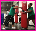 ladies kick boxing boot camp button