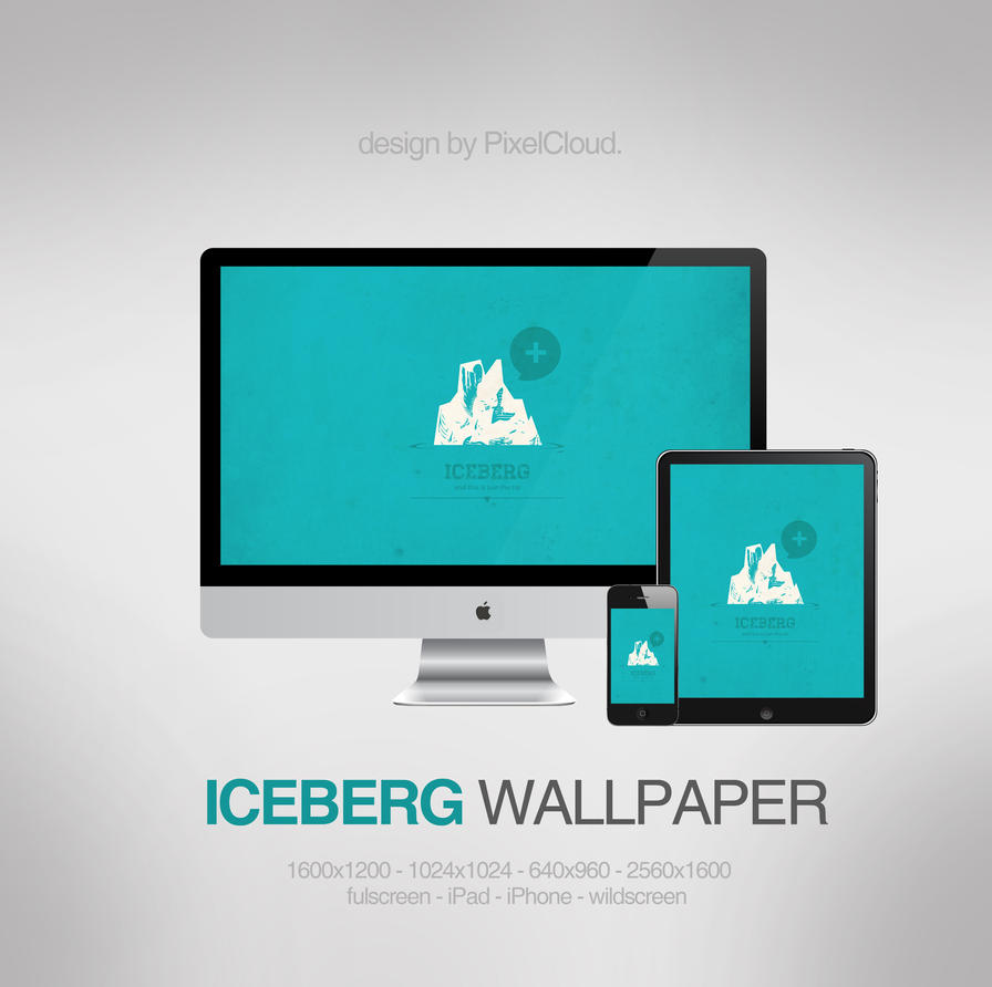 iceberg wallpaper by pixelcloud d4ypxlz Minimal Vector Iceberg Wallpaper
