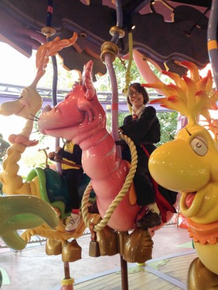Harry Potter can ride Seuss characters AND broomsticks.