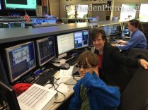 That would be Ben sitting by the flight director!