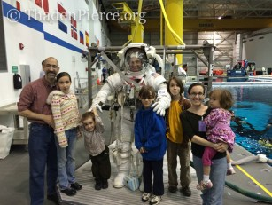 That is a patient astronaut and excited 5 year old.