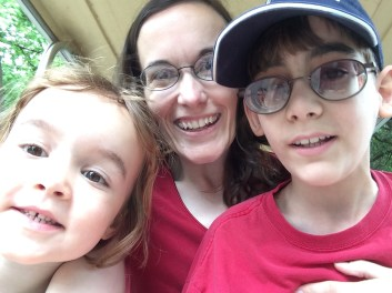 Selfie on the cart as we rode through the zoo.