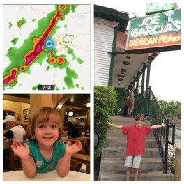 Post-zoo trip we stopped for lunch during the nasty storm.