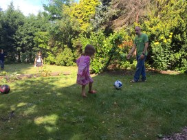 Time to start football lessons.