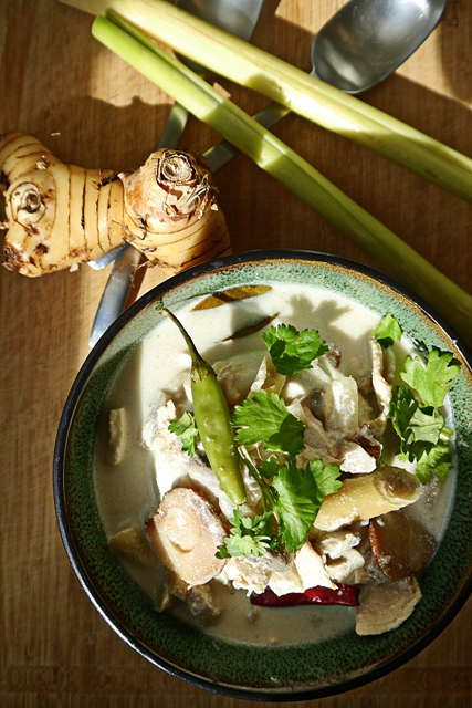 Tom Kha Gai Recipe-Thai Coconut Chicken Soup-ต้มข่าไก่