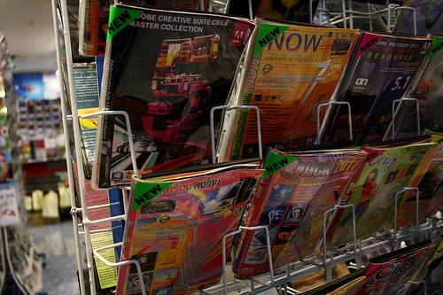 バンコクで売ってる違法コピーCDの写真