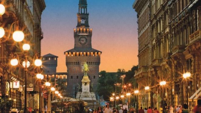 Город Милан в Италии