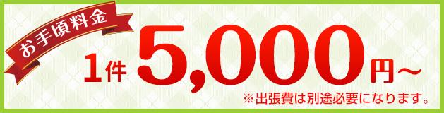 お手頃料金5,000円