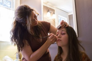 Ella DeVito getting ready for her closeup (Courtesy Pencil Ink Productions)