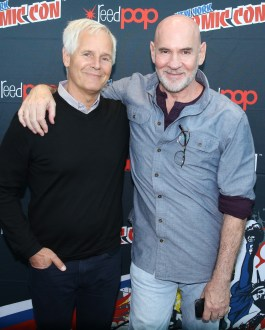 THE X-FILES: THE X-FILES Creator/Executive Producer Chris Carter and Cast Member Mitch Pileggi in the press room during FOX FANFARE 2015 at New York Comic Con on Saturday, Oct. 10 at Javits Center in New York, NY. CR: Ben Hider/FOX