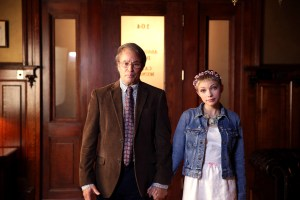 "SCREAM QUEENS: L-R: Guest stars Philip Casnoff and Tavi Gevinson in the ""Beware Of Young Girls"" episode of SCREAM QUEENS airing Tuesday, Nov. 3 (9:00-10:00 PM ET/PT) on FOX. ©2015 Fox Broadcasting Co. Cr: Patti Perret/FOX."