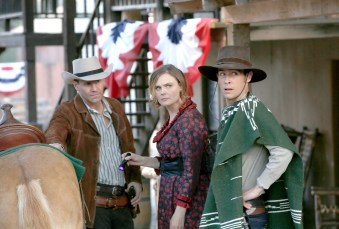 """BONES: L-R: David Boreanaz, Emily Deschanel and John Boyd in the first part of the two-hour """"The Cowboy in the Contest/The Doom in the Boom"""" fall finale episode of BONES airing Thursday, Dec. 10 (8:00-10:00 PM ET/PT) on FOX. ©2015 Fox Broadcasting Co. Cr: Jennifer Clasen/FOX"""
