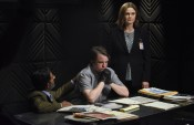 """BONES: L-R: Guest star Ravi Kapoor, guest star Eric Millegan and Emily Deschanel in the """"The Final Chapter: The Hope in the Horror"""" season premiere episode of BONES airing Tuesday, Jan. 3 (9:01-10:00 PM ET/PT) on FOX. ©2016 Fox Broadcasting Co. Cr: Ray Mickshaw/FOX"""