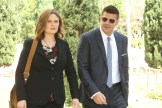 "BONES: L-R: David Boreanaz and Emily Deschanel in the ""The New Tricks in the Old Dogs"" episode of BONES airing Tuesday, Jan. 17 (9:01-10:00 PM ET/PT) on FOX. ©2016 Fox Broadcasting Co. Cr: Patrick McElhenney/FOX"