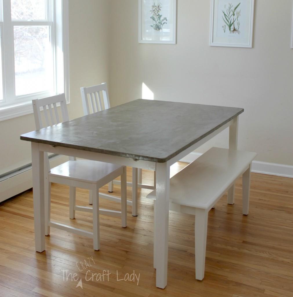 easy home decor diys gray kitchen table diy concrete kitchen table