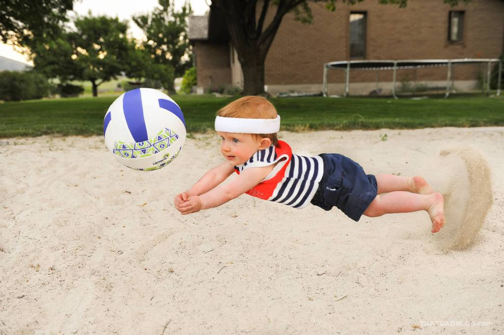 Olympic baby volleyball low