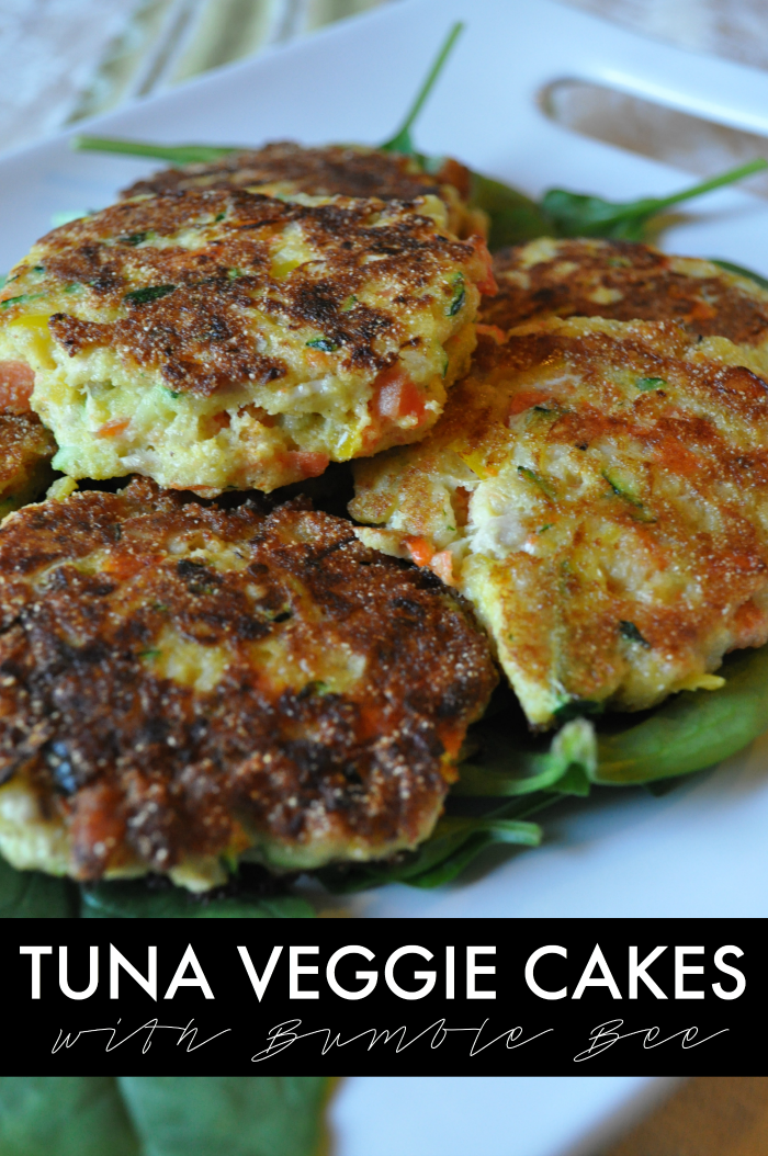 tuna veggie cakes with bumble bee