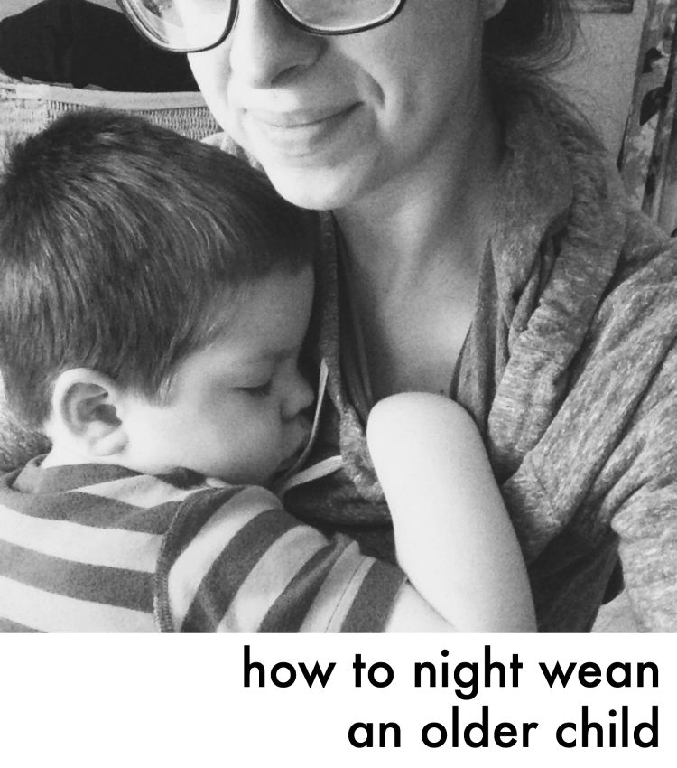 how to night wean an older child