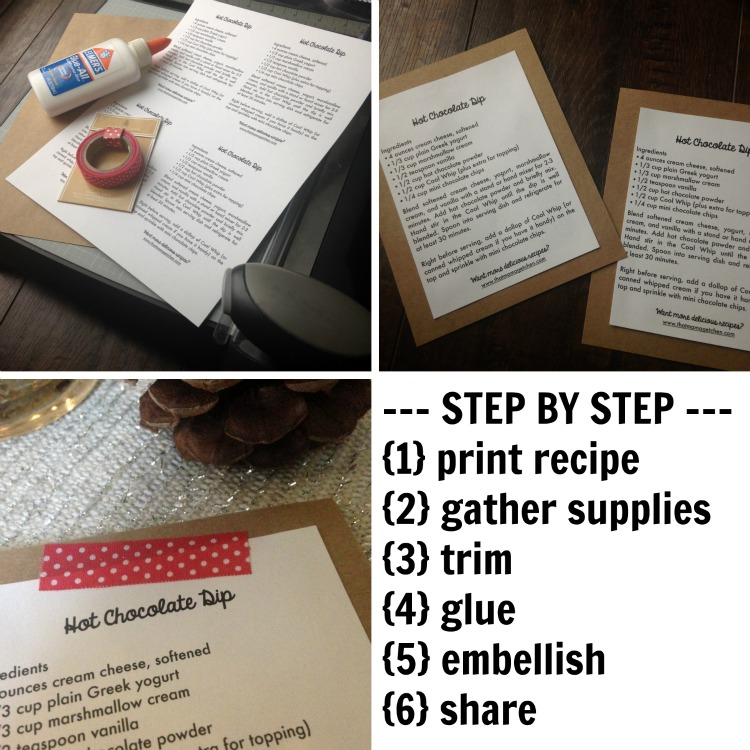recipe card step by step