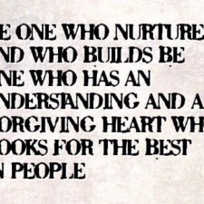 one who nurtures
