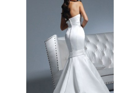 y mermaid style designer wedding gown for cheap
