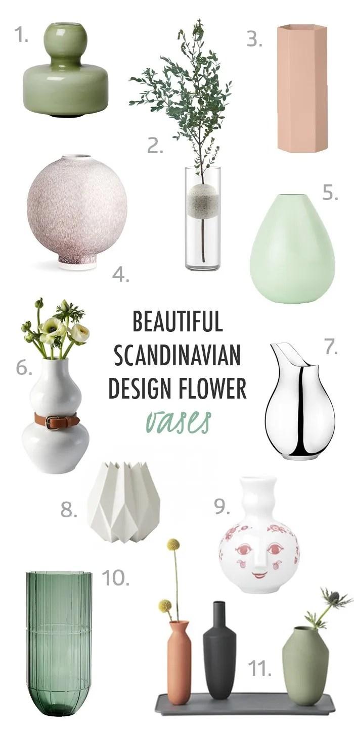 11 Beautiful Scandinavian Design Flower Vases