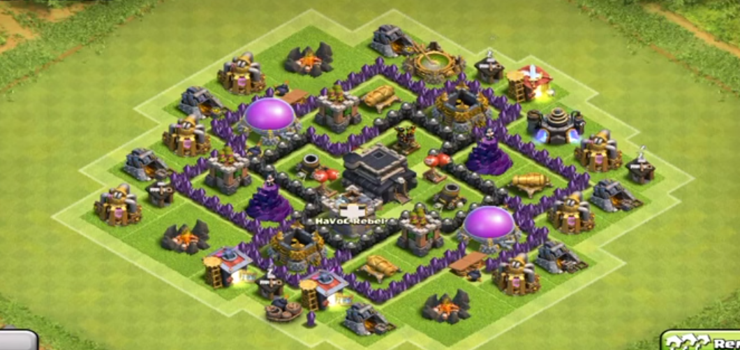 Clash of clans Town Hall 6 Trophy Base - 2