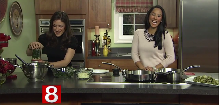 TSJ's Pasta with Spinach and Artichoke Sauce *As Seen on CT Style News 8*