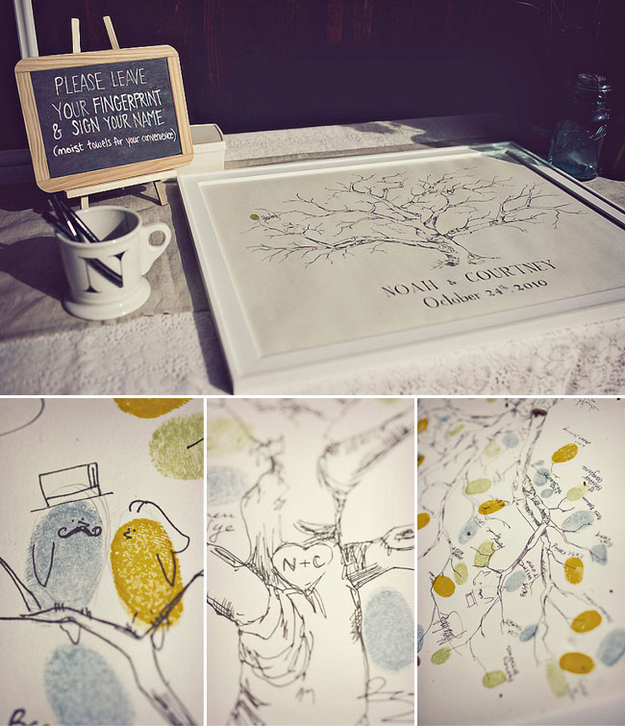 Thumbprint Tree Guest Sign: 50 Reasons Why Fall Is Our Favorite Wedding Season