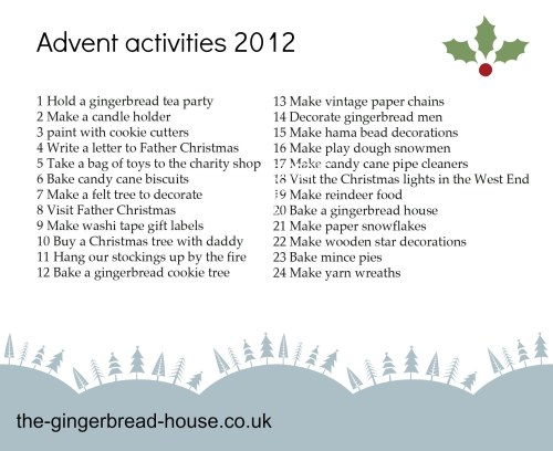 list of advent activities