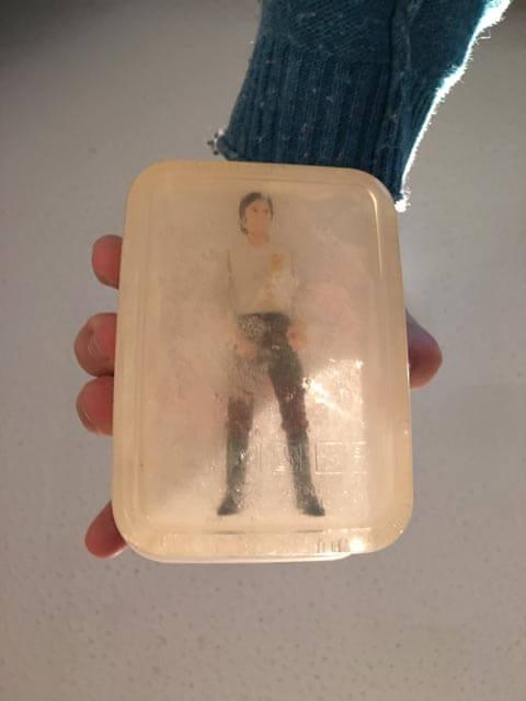 DIY Star Wars Han Solo Frozen in Carbonite Soap